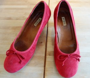 Paul Green Loafers rood-neonrood Suede