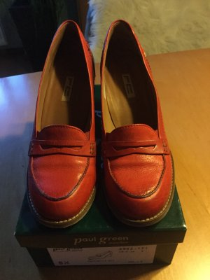 Paul Green High-Front Pumps red leather