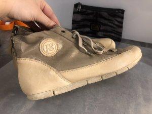Paul Green handmade Leder Sneaker high waist Glitzer Gr42
