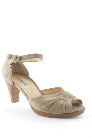 Paul Green Hoge hakken sandalen zandig bruin casual uitstraling