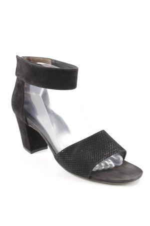 Paul Green High Heel Sandaletten schwarz schlichter Stil