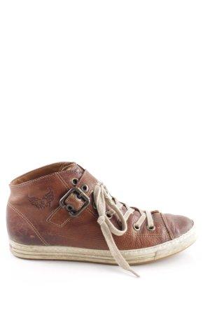 Paul Green High Top Sneaker braun-weiß Casual-Look