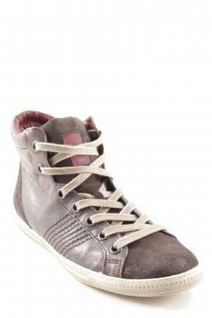 Paul Green High Top Sneaker graubraun-beige Casual-Look