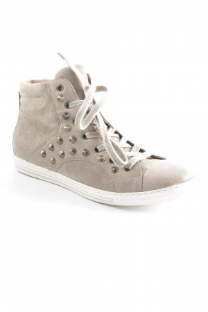 Paul Green High Top Sneaker graubraun Street-Fashion-Look