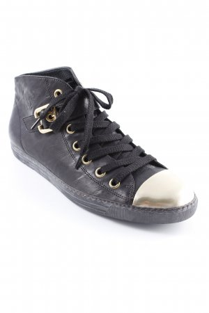 Paul Green High Top Sneaker schwarz-goldfarben Casual-Look