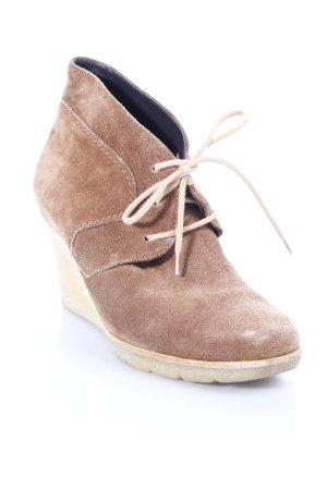Paul Green Keil-Stiefeletten braun Street-Fashion-Look