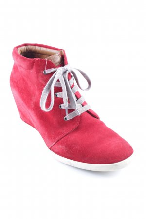 Paul Green Keil-Stiefeletten rot Casual-Look