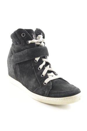 Paul Green Keil-Stiefeletten schwarz Casual-Look