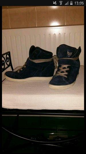 Paul Green Keilabsatz-Sneaker Schuhe dunkelblau.