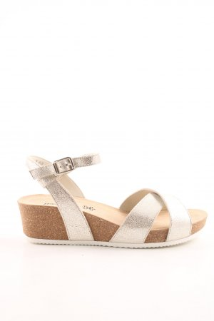 Paul Green Comfort Sandals silver-colored casual look