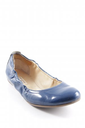 Paul Green Lackballerinas blau Lack-Optik