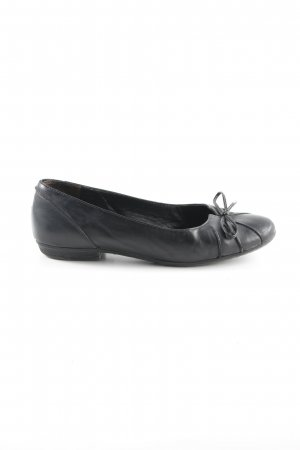 Paul Green Patent Leather Ballerinas black Bow detail