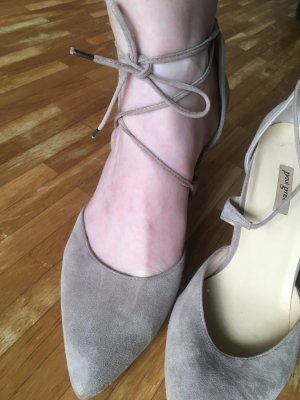 Paul Green Lace-up Pumps grey suede