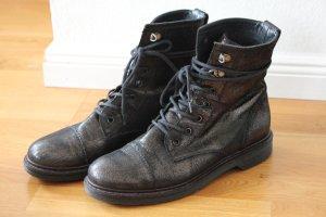 PAUL GREEN, Lederschnürschuhe schwarz Metalic, Größe 38,5 **sehr guter Zustand**