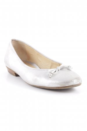 Paul Green Mary Jane Ballerinas silberfarben Glitzer-Optik