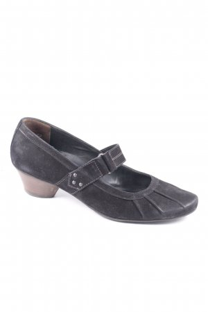 Paul Green Mary Jane Halbschuhe schwarz Casual-Look