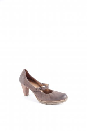 Paul Green Mary Jane Pumps graubraun klassischer Stil