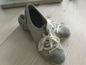 Paul Green München Sneaker Gr. 39 40 grau, beige, Leder