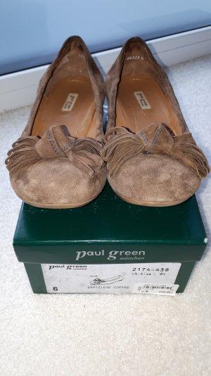 Paul Green Slingback Ballerinas brown