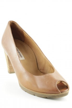 Paul Green Peeptoe Pumps hellbraun Casual-Look