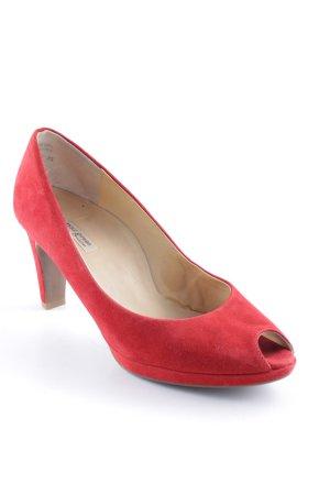 Paul Green Peep Toe Pumps rood elegant