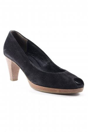 Paul Green Peeptoe Pumps schwarz-braun Business-Look