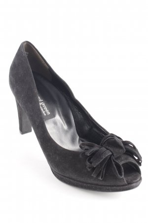 Paul Green Peeptoe Pumps schwarz Business-Look