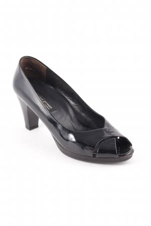 Paul Green Peeptoe Pumps schwarz Elegant