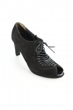 Paul Green Peeptoe-Stiefeletten schwarz Casual-Look
