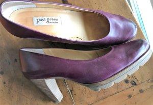 Paul Green Tacones con plataforma marrón arena-violeta azulado Cuero
