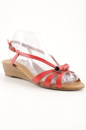 Paul Green Plateauzool sandalen baksteenrood elegant