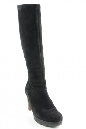 Paul Green Platform Boots black-grey brown casual look