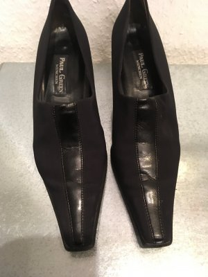 Paul Green Loafers zwart Textielvezel