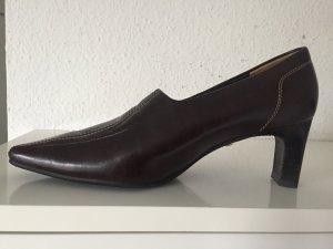 Paul Green Pumps Gr. 37 (4) Braun klassisch Absatzschuhe braune Leder Lederpumps