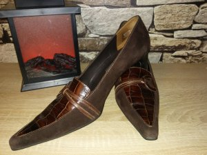 Paul Green High-Front Pumps brown-dark brown leather