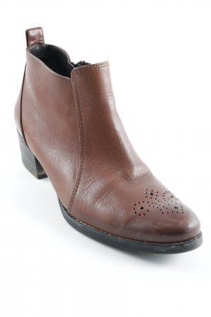 Paul Green Reißverschluss-Stiefeletten cognac Country-Look