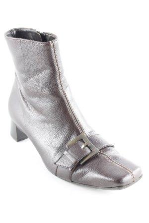 Paul Green Reißverschluss-Stiefeletten dunkelbraun Casual-Look
