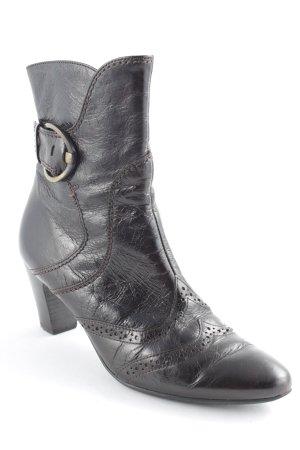 Paul Green Zipper Booties dark brown simple style