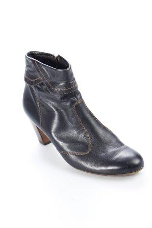 Paul Green Reißverschluss-Stiefeletten schwarz-braun Casual-Look