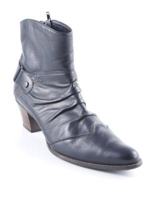Paul Green Reißverschluss-Stiefeletten schwarz Casual-Look