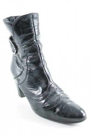 Paul Green Reißverschluss-Stiefeletten schwarz Lack-Optik