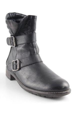 Paul Green Reißverschluss-Stiefeletten schwarz-silberfarben Casual-Look