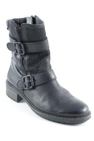 Paul Green Reißverschluss-Stiefeletten schwarz Street-Fashion-Look