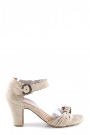Paul Green Strapped High-Heeled Sandals cream casual look