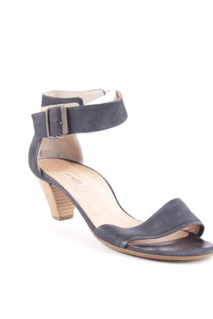 Paul Green Strapped High-Heeled Sandals dark blue casual look