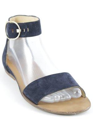Paul Green Riemchen-Sandaletten dunkelblau-goldfarben Casual-Look