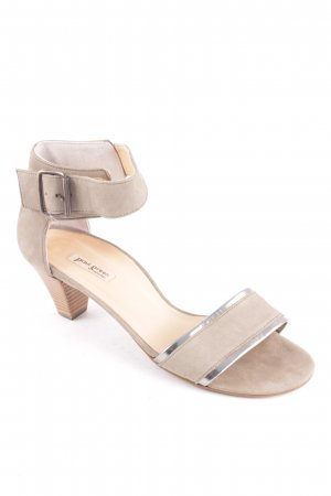 Paul Green Strapped High-Heeled Sandals light grey casual look