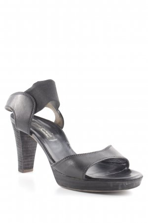 Paul Green Strapped High-Heeled Sandals black business style