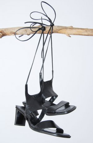 Paul Green Comfort Sandals black leather