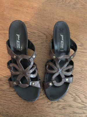 Paul Green Strapped High-Heeled Sandals dark brown